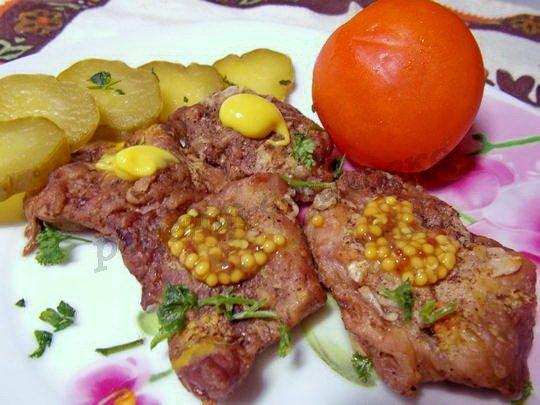 рецепт свинины с горчицей