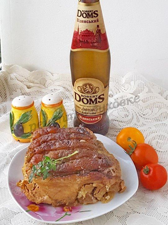 свинина запечённая в пиве