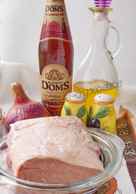 ингредиенты для мяса в пиве