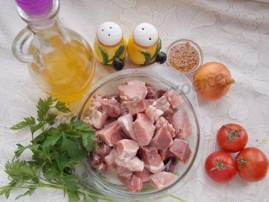 ингредиенты для домашнего шашлыка