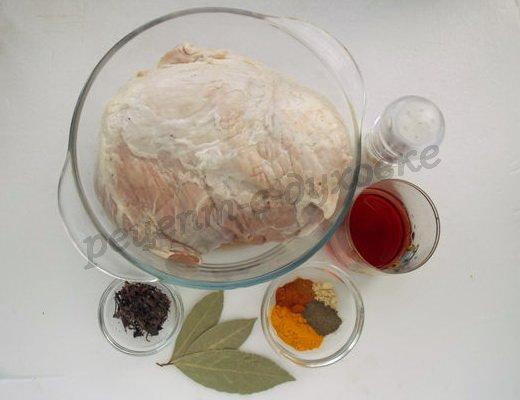 ингредиенты для буженины в вине