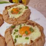 рецепт галет с яйцом, шампиньонами и ветчиной