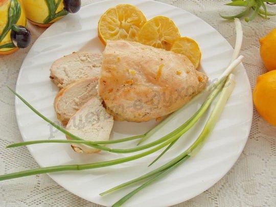 куриные грудки с мёдом и лимоном