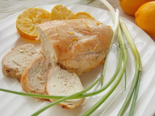 куриные грудки, запечённые с лимоном и мёдом