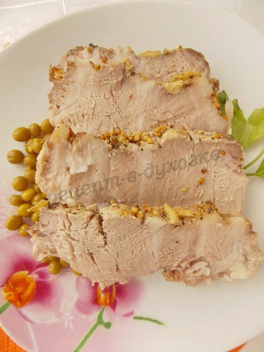 рецепт запечённого мяса с имбирём и горчицей