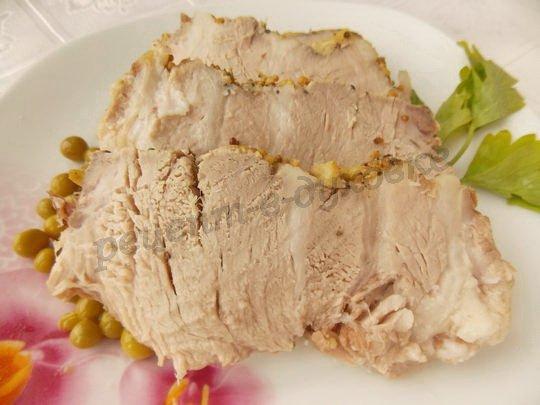 мясо с имбирём и горчицей