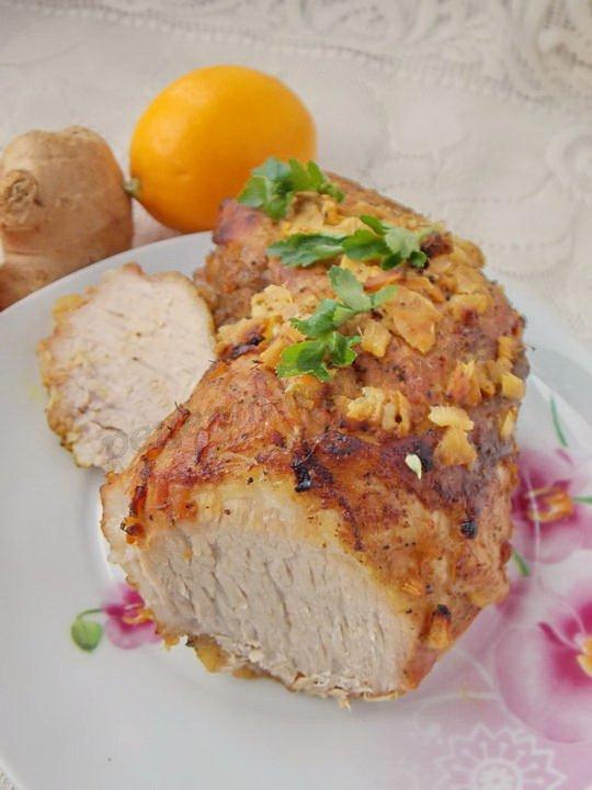 мясо в имбирно-лимонном маринаде