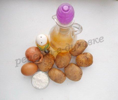 ингредиенты для драников