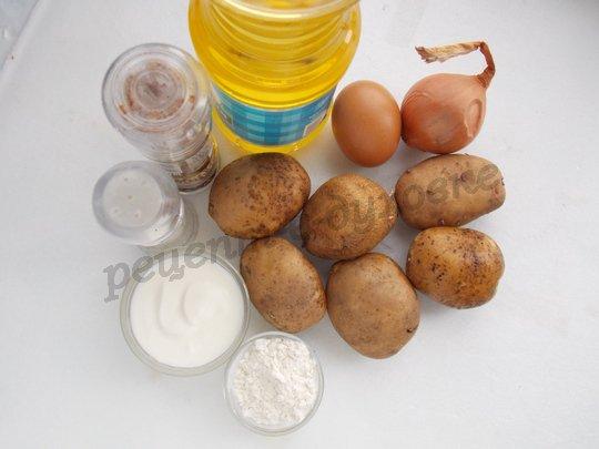 ингредиенты для дерунов в сметане