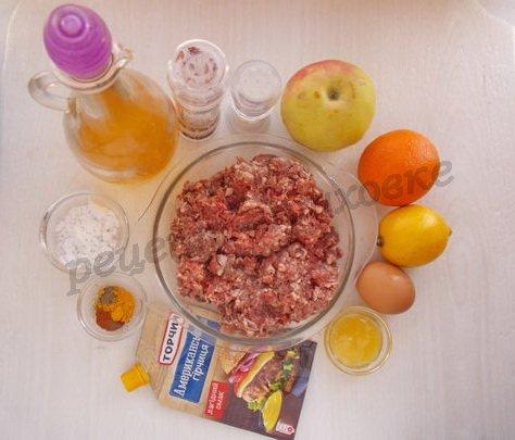 ингредиенты для котлет с яблоком