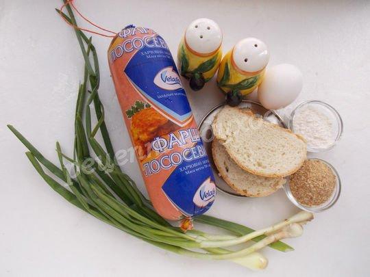 ингредиенты для рыбных котлет