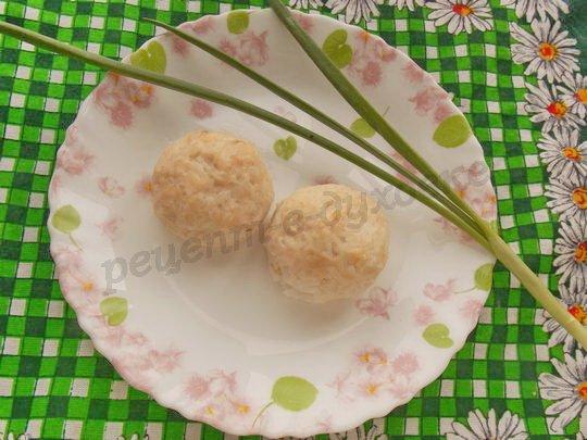 тефтельки из куриного фарша с рисом