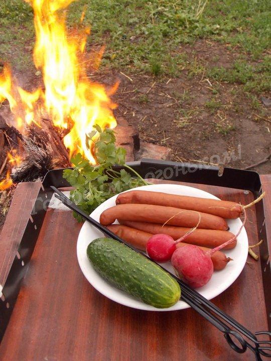 как пожарить колбаски гриль