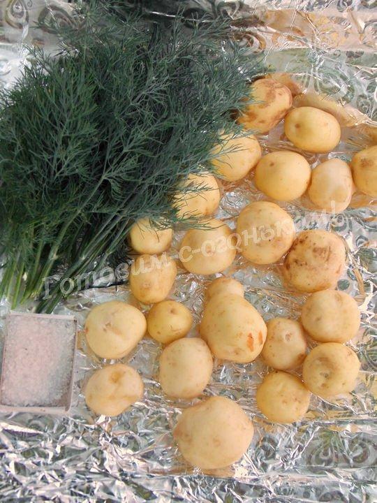 ингредиенты для картошки в фольге