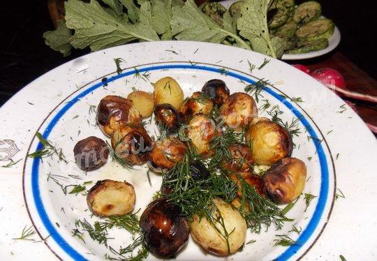 рецепт молодой картошки на костре