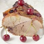 запечённое мясо с вишней