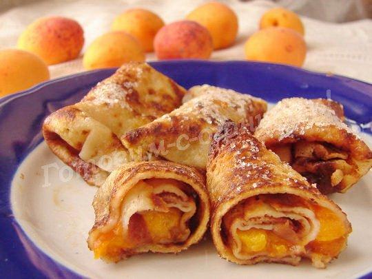 блинчики с абрикосами в духовке