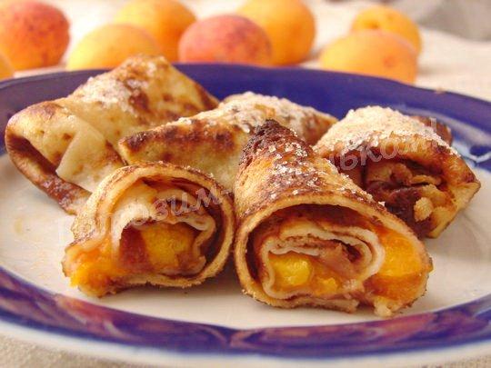 блинчики с абрикосами