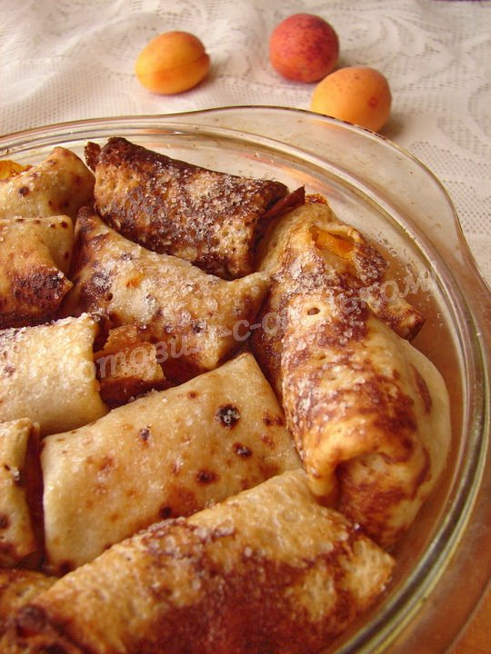 рецепт налистников с абрикосами