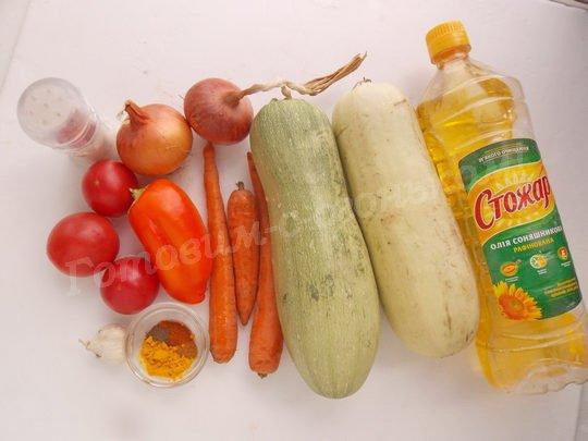 ингредиенты для кабачковой икры