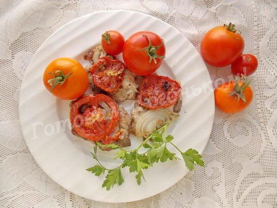 мясо под помидорами