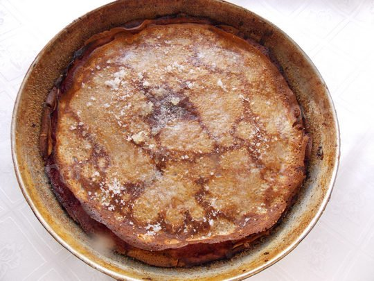 блинный торт в духовке