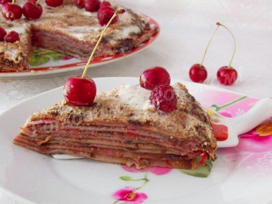 вишнёвый торт из блинчиков