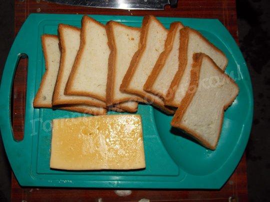 ингредиенты для сэндвичей с сыром