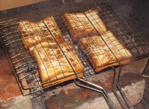 горячие бутерброды на костре
