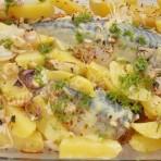 запечённая скумбрия с картошкой