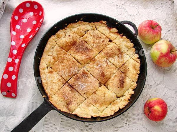 десерт в духовке из яблок