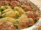 Блинчики с гречкой и фаршем в духовке